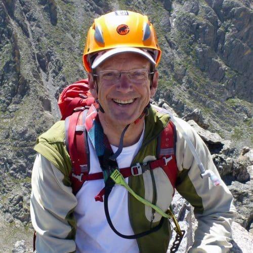 Roger Mellem rock climbing