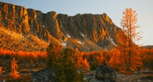 Amphitheater Mountain at sunset Pasayten Wilderness, Photo Courtesy of Andy Porter