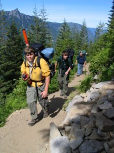 Hikers on the Ira Spring/Mt. Defiance Trail by Charlie Raines
