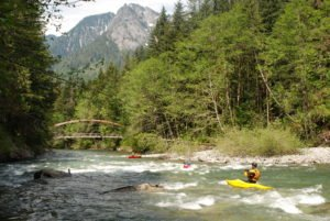 Padding on the Middle Fork Snoqualmie River, by Thomas O'Keefe