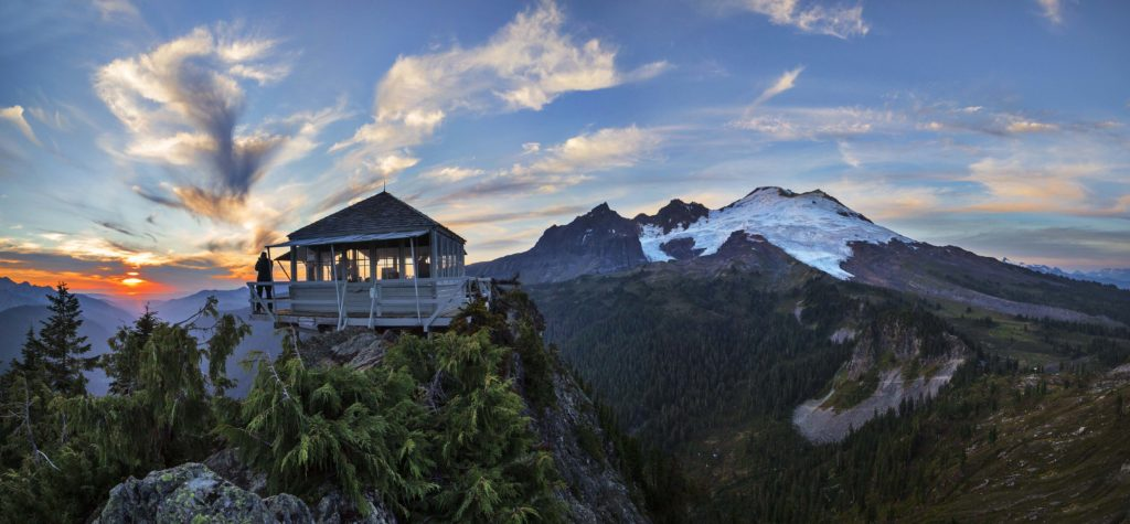 Sunset at Park Butte Lookout, Photo Courtesy of Andy Porter