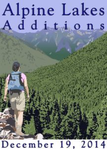 Alpine Lakes Wilderness Additions commemorative art by Roy Hughes.