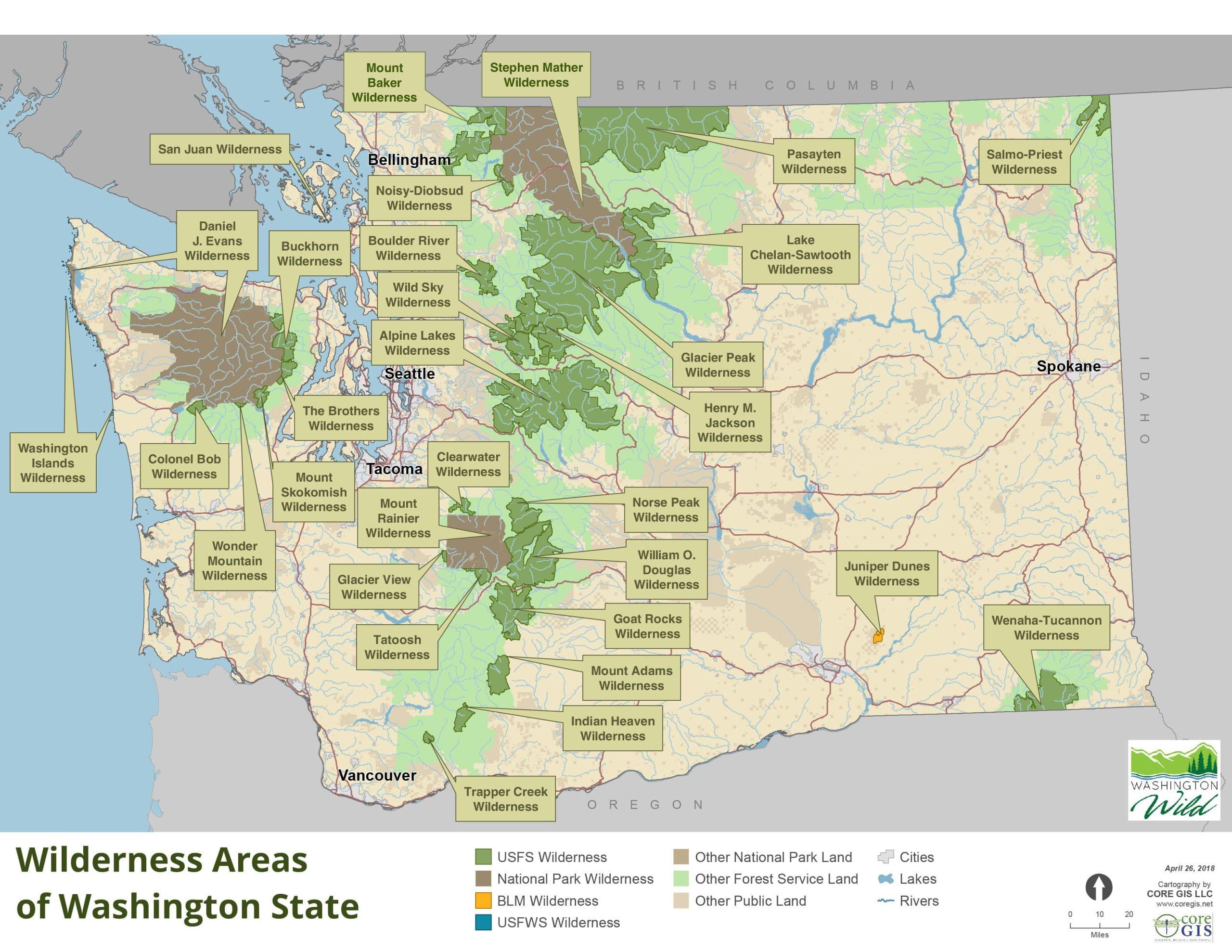 Washington Wild Explore Washington's Wilderness Areas ... on